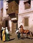 Jean-Leon Gerome Horse Merchant in Cairo painting